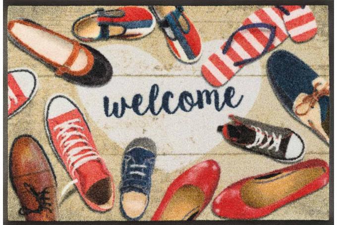 Deurmat Shoes Welcome