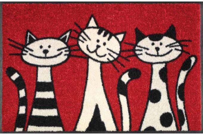 Deurmat Three Cats