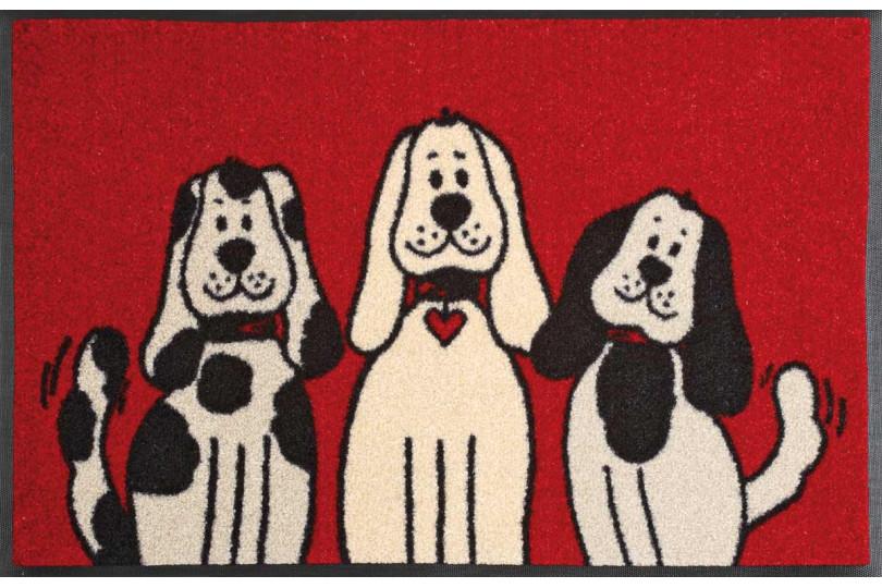 Deurmat Three Dogs